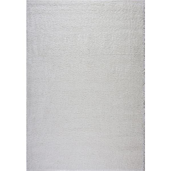 Tapis Meknes, 5,3' x 7,5', polypropylène, ivoire