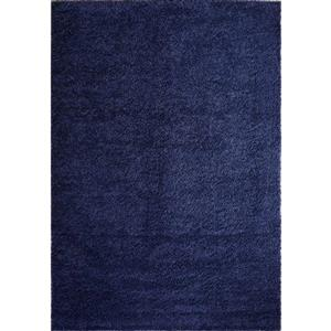 Tapis Meknes, 3,9' x 5,6', polypropylène, bleu marin