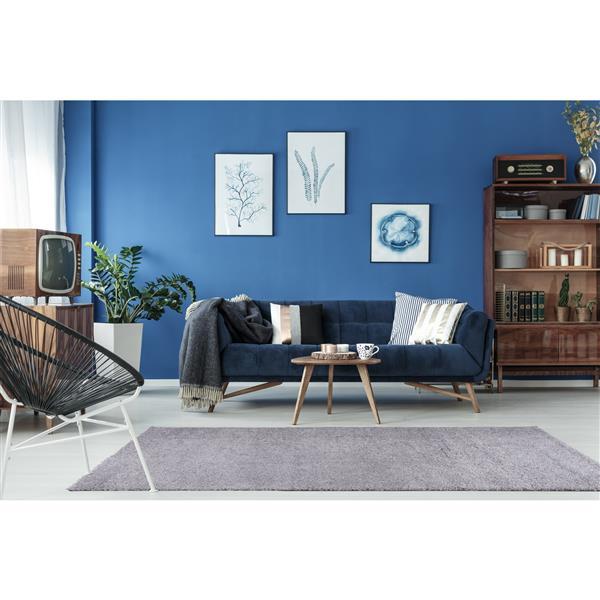 La Dole Rugs® Meknes Area Rug - 6.4' x 9.4' - Polypropylene - Light Gray