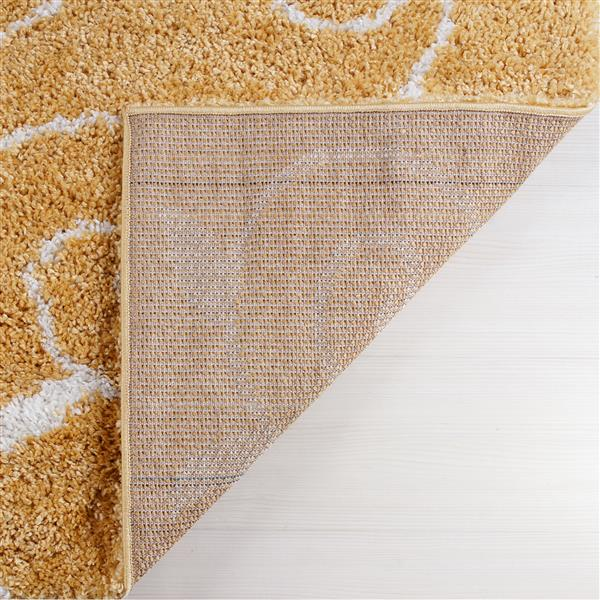 La Dole Rugs® Rabat Area Rug - 5.3' x 7.5' - Polypropylene - Yellow/White