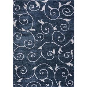 La Dole Rugs® Rabat Area Rug - 2.6' x 4.9' - Polypropylene - Blue/White