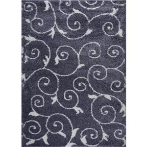 Rabat Area Rug - 2.6' x 4.9' - Polypropylene - Gray/White