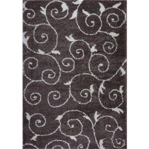 Tapis à spirales Rabat, 2,6' x 9,8', polypropylène, brun