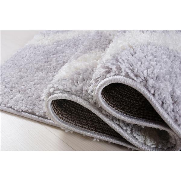 La Dole Rugs® Tangier Area Rug - 3.9' x 5.6' - Polypropylene - Gray/White