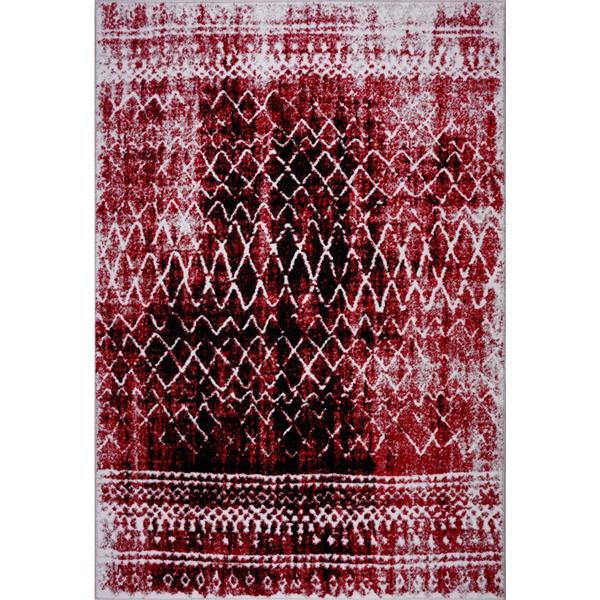 La Dole Rugs® Verona Area Rug - 7.8' x 10.4' - Polypropylene - Red/Black