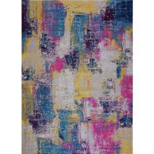 Tapis Yorkson, 5,3' x 7,5', polypropylène, multicolore