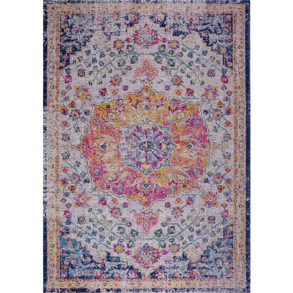 La Dole Rugs® Traditionnal Rug - 5.3' x 7.5' - Polypropylene - Multicolour