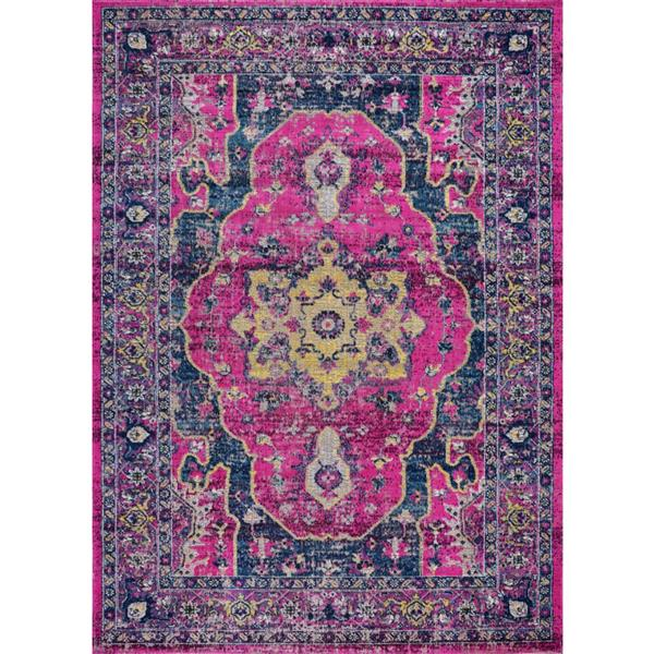 La Dole Rugs®  Beverly Area Rug - 1.8' x 2.9' - Polypropylene - Pink/Purple