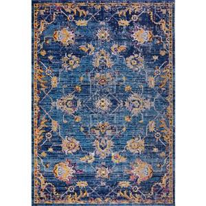 Tapis Tremont, 6,4' x 9,4', polypropylène, bleu