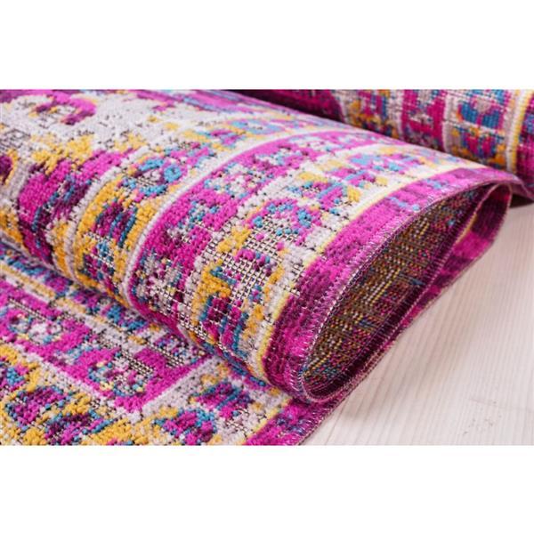 La Dole Rugs®  Elson Area Rug - 7.8' x 10.4' - Polypropylene - Purple/Pink