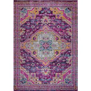 Tapis Elson, 7,8' x 10,4', polypropylène, violet/rose
