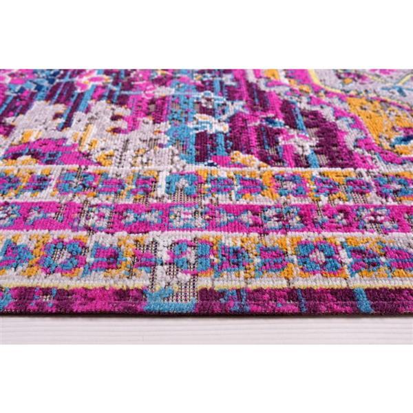 La Dole Rugs®  Elson Area Rug - 2.6' x 4.9' - Polypropylene - Purple/Pink