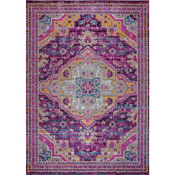 La Dole Rugs®  Elson Area Rug - 6.4' x 9.4' - Polypropylene - Purple/Pink