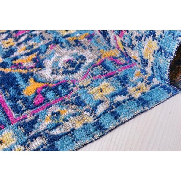 La Dole Rugs® Rowen Outdoor Area Rug - 5.3' x 7.5' - Polypropylene - Blue