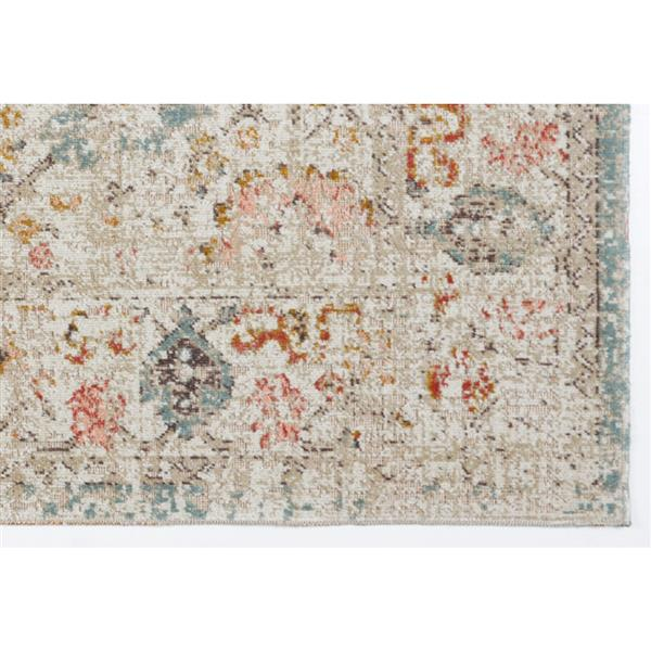 La Dole Rugs® Marigold Rug - 2.6' x 4.9' - Polypropylene - Cream/Beige