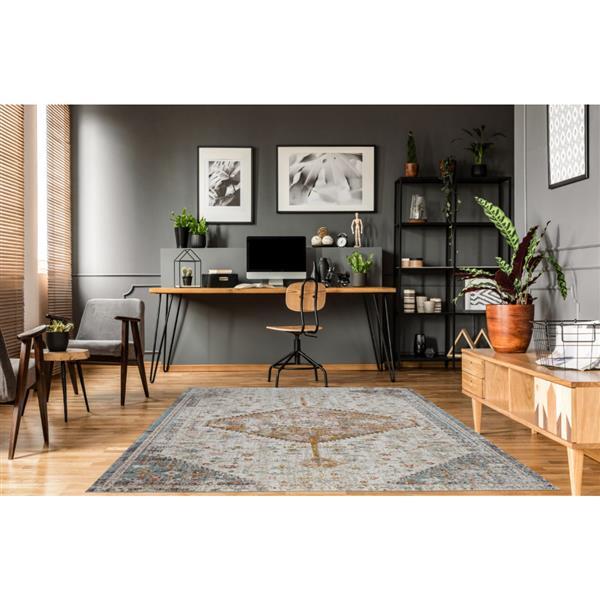 La Dole Rugs® Tiffany Area Rug - 6.4' x 9.4' - Polypropylene - Cream/Beige