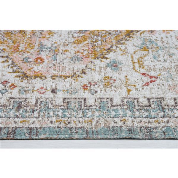 La Dole Rugs® Tiffany Rug - 7.8' x 10.4' - Polypropylene - Cream/Beige