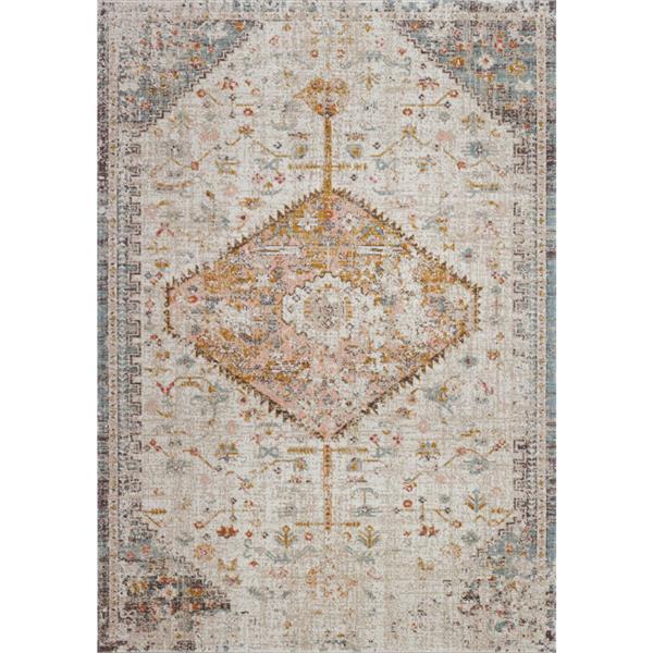 La Dole Rugs® Tiffany Area Rug - 1.8' x 2.9' - Polypropylene - Cream/Beige