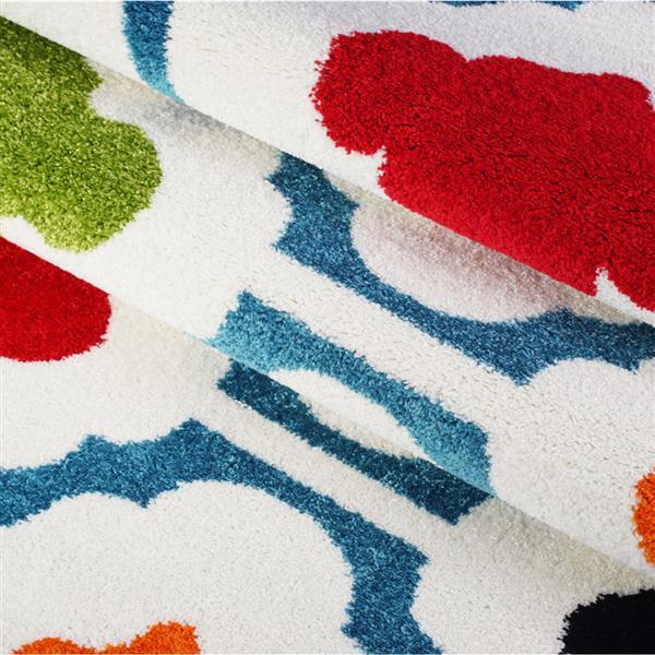 La Dole Rugs® Trellis Area Rug - 3.9' x 5.6' - Polypropylene - Cream/Multi
