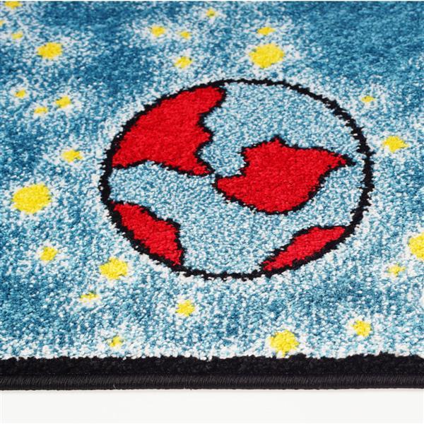 La Dole Rugs®  Kids Area Rug - 6.2' x 9.2' - Polypropylene - Blue/Yellow