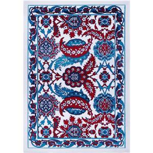 La Dole Rugs® Vincenza Area Rug - 6.2' x 9.2' - Polypropylene - Blue/Red