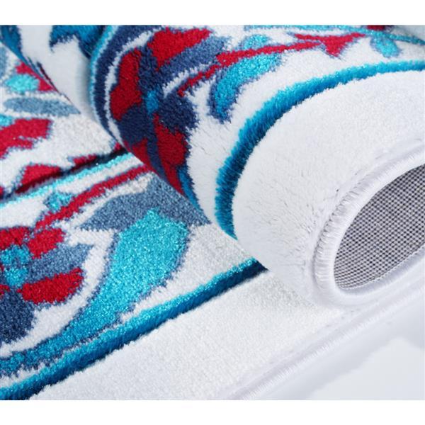 La Dole Rugs® Vincenza Area Rug - 2.6' x 4.9' - Polypropylene - Blue/Red