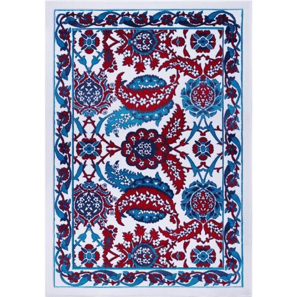 La Dole Rugs® Vincenza Area Rug - 2.6' x 9.8' - Polypropylene - Blue/Red