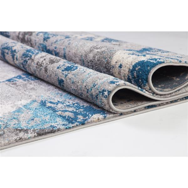 La Dole Rugs®  Geometric Area Rug - 3.9' x 5.6' - Polypropylene - Teal/Gray