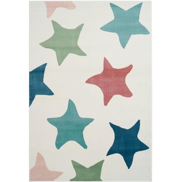 Tapis avec étoiles, 7,8' x 10,4', polypropylène, multicolore