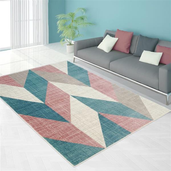 La Dole Rugs®  Chevron Area Rug - 3.9' x 5.6' - Polypropylene - Multicolour