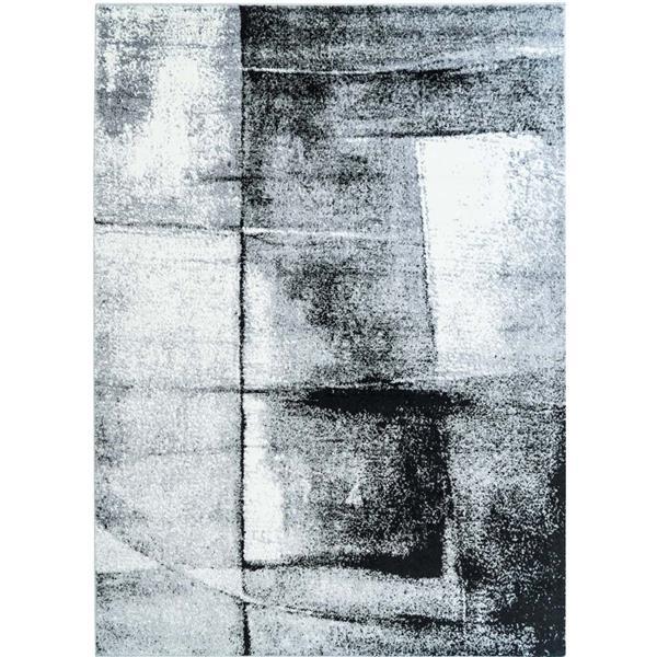 La Dole Rugs®  Abstract Area Rug - 5.2' x 7.3' - Polypropylene - Gray