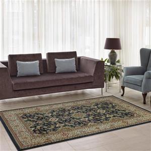 La Dole Rugs® Traditionnal Rug - 3.9' x 5.6' - Polypropylene - Dark Gray