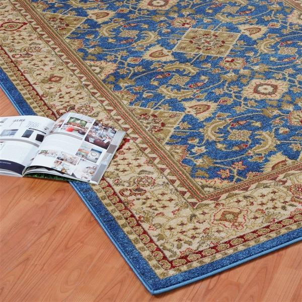 La Dole Rugs® Traditionnal Rug - 3.9' x 5.6' - Polypropylene - Blue/Cream