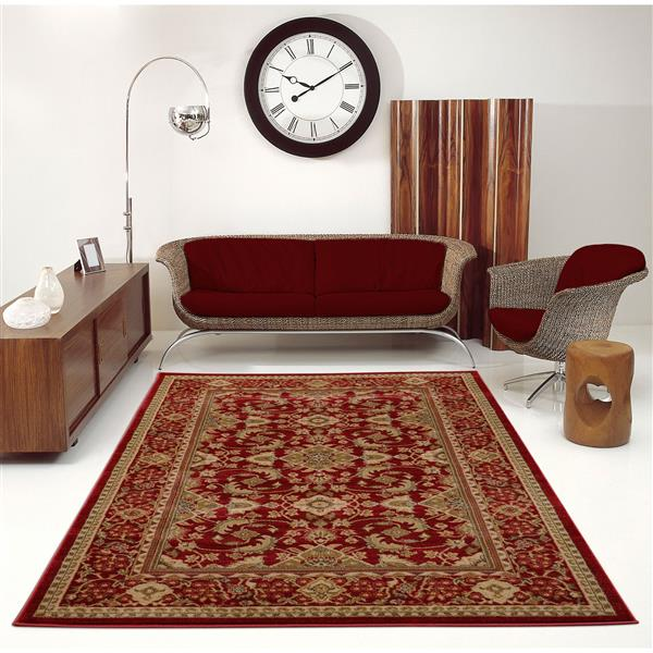 La Dole Rugs® Traditionnal Area Rug - 2.6' x 4.9' - Polypropylene - Cherry