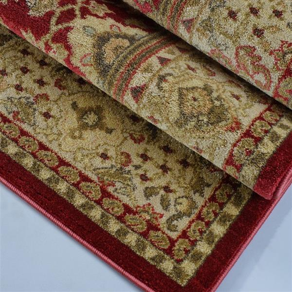 La Dole Rugs® Traditionnal Rug - 2.6' x 9.8' - Polypropylene - Red/Cream