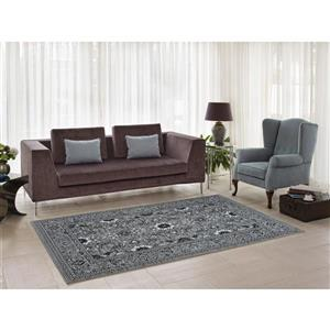 Traditionnal Area Rug - 2.6' x 4.9' - Polypropylene - Gray
