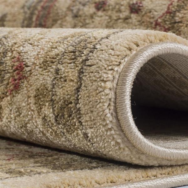 La Dole Rugs® Traditionnal Area Rug - 3.9' x 5.6' - Polypropylene - Cream
