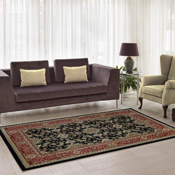 La Dole Rugs® Traditionnal Rug - 5.3' x 7.5' - Polypropylene - Black/Red