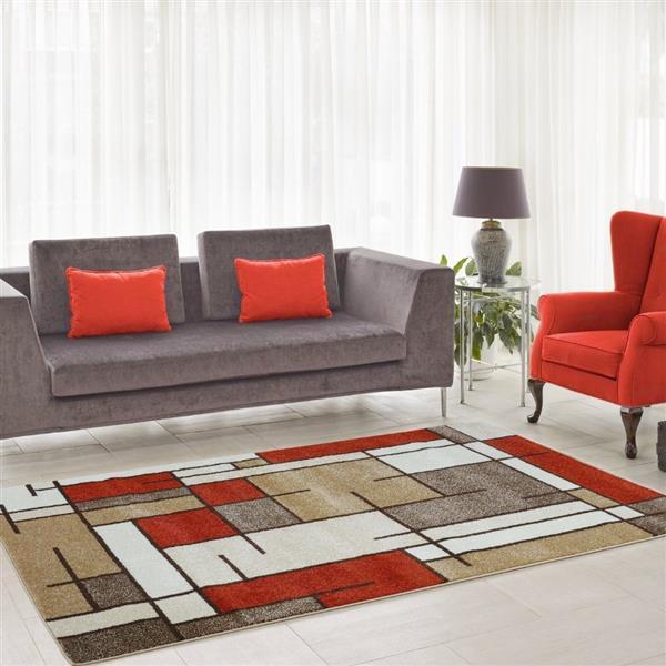 La Dole Rugs®  Geometric Area Rug - 6.4' - Polypropylene - Multicolour
