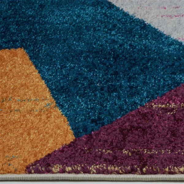 La Dole Rugs®  Geometric Rug - 7.8' x 10.4' - Polypropylene - Yellow/Blue