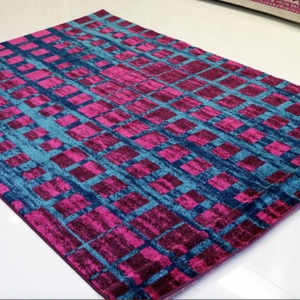 La Dole Rugs®  Geometric Area Rug - 5.3' x 7.5' - Polypropylene - Pink/Blue