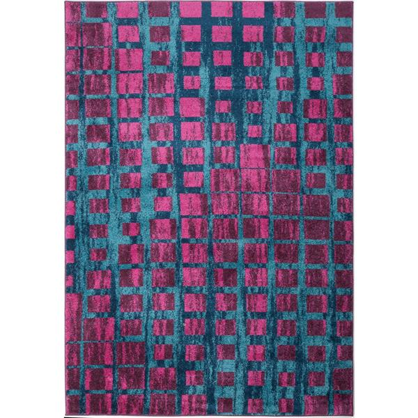 La Dole Rugs®  Geometric Area Rug - 6.4' x 9.4' - Polypropylene - Pink/Blue