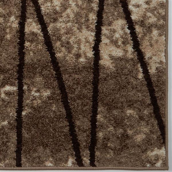 La Dole Rugs®  Geometric Rug - 3.9' x 5.6' - Polypropylene - Dark Beige