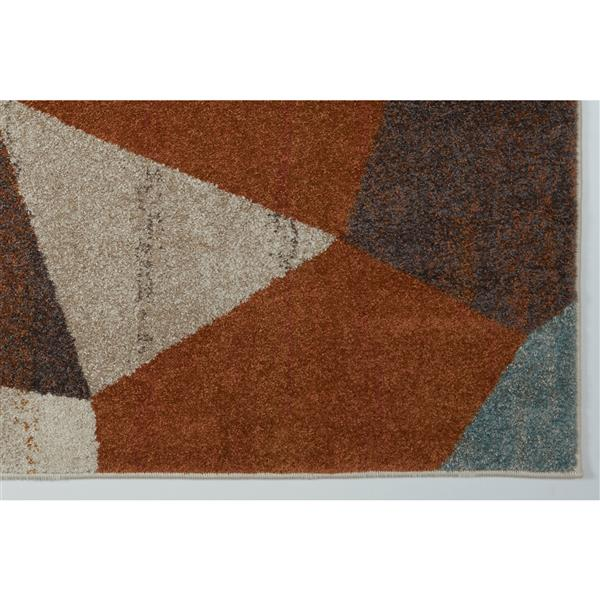 La Dole Rugs®  Geometric Rug - 6.4' x 9.4' - Polypropylene - Multicolour