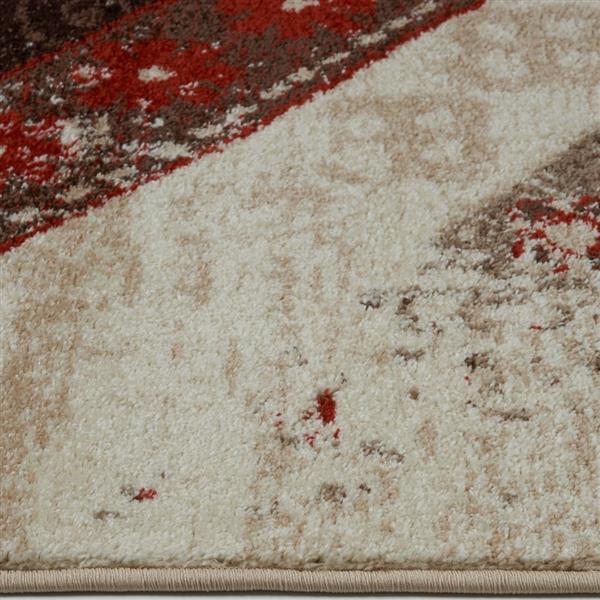 La Dole Rugs®  Abstract Rug - 2.6' x 4.9' - Polypropylene - Caramel/Orange