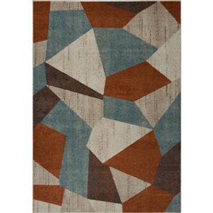 La Dole Rugs®  Geometric Rug - 5.3' x 7.5' - Polypropylene - Multicolour