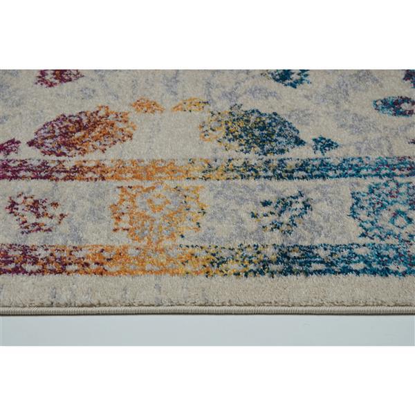 La Dole Rugs®  Floral Area Rug - 7.8' x 10.4' - Polypropylene - Multicolour