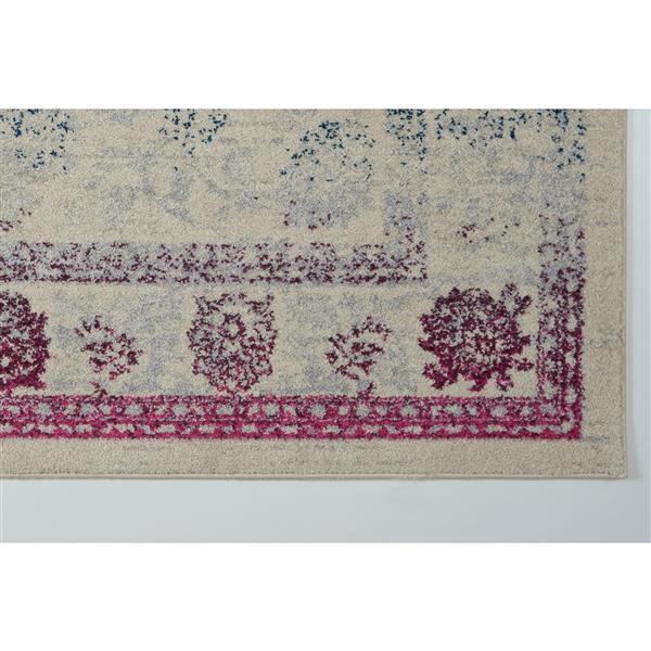 La Dole Rugs®  Floral Area Rug - 2.6' x 9.8' - Polypropylene - Multicolour