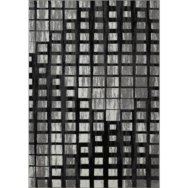 La Dole Rugs®  Geometric Area Rug - 2.6' x 4.9' - Polypropylene - Gray