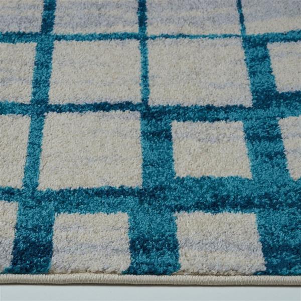La Dole Rugs®  Geometric Rug - 5.3' x 7.5' - Polypropylene - Blue/Beige